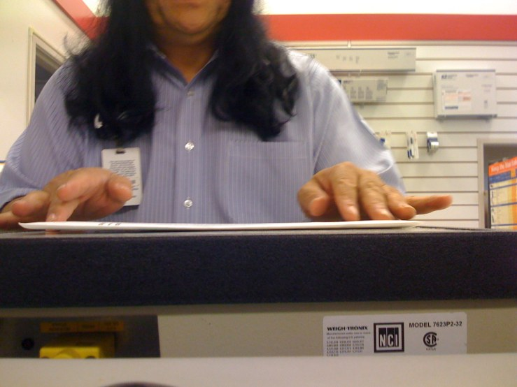 the postal worker that processed our absentee ballots.  if they go missing this is the person we'll go after.